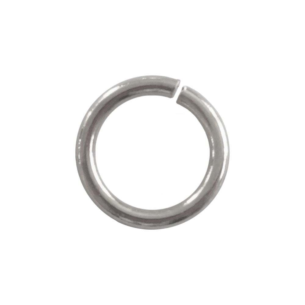 鉄製丸カン 線径φ1.0×内径6mm(直径8mm) ニッケル
