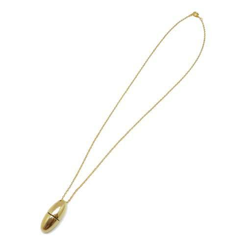 ○アロマペンダントに○ 真鍮製 香水カプセル オーバル型 ゴールド (5個セット)