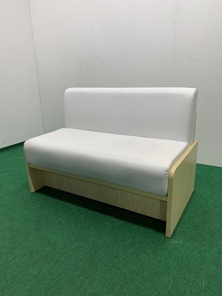 中古 W1110 ベンチソファー ホワイト
