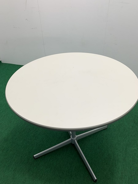 中古W800 丸テーブル ホワイト