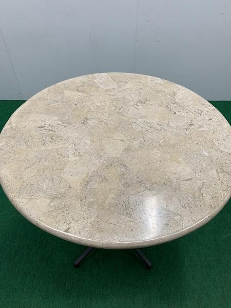 中古W710 丸テーブル ベージュ