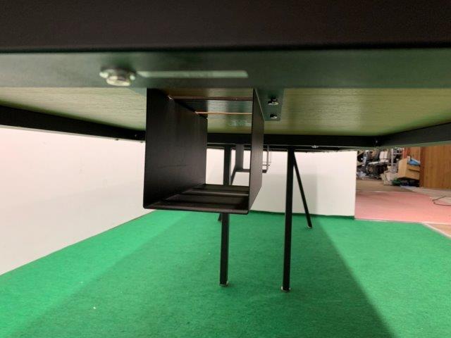 PLUS製 ミーティングテーブル(ダイニングワークシリーズ/DI-3610) ナチュラル W3600 配線ボックス付 2017年製