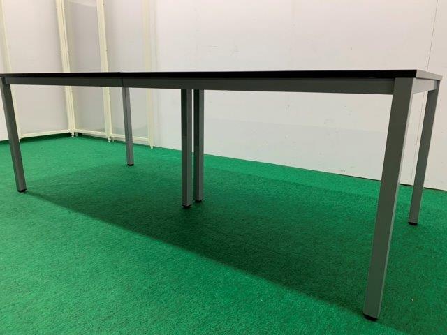 メーカー不明 ミーティングテーブル ダークブラウン 配線ボックス(×2)付 W2100