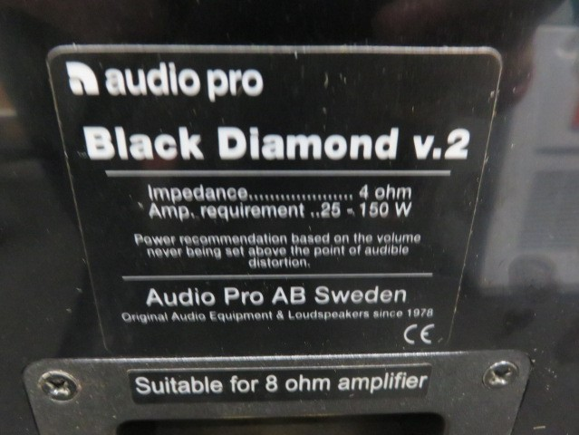 audio pro Black Diamond v.2 スピーカーセット