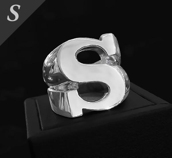 SV ミニイニシャルリング[5号〜20号]【Charmer argento(チャーマー アルジェント)】EX-8013