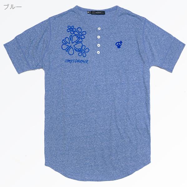 レトロスポーツヘンリーTシャツ[半袖]【Jimy's Charmer(ジミーズチャーマー)】AJC-03008