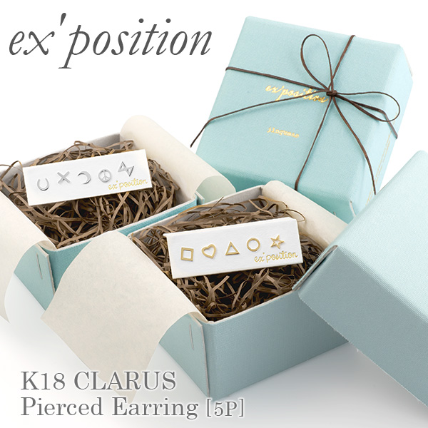 K18クララピアス[5P]【ex'position(エクスポジション)】EX-9003