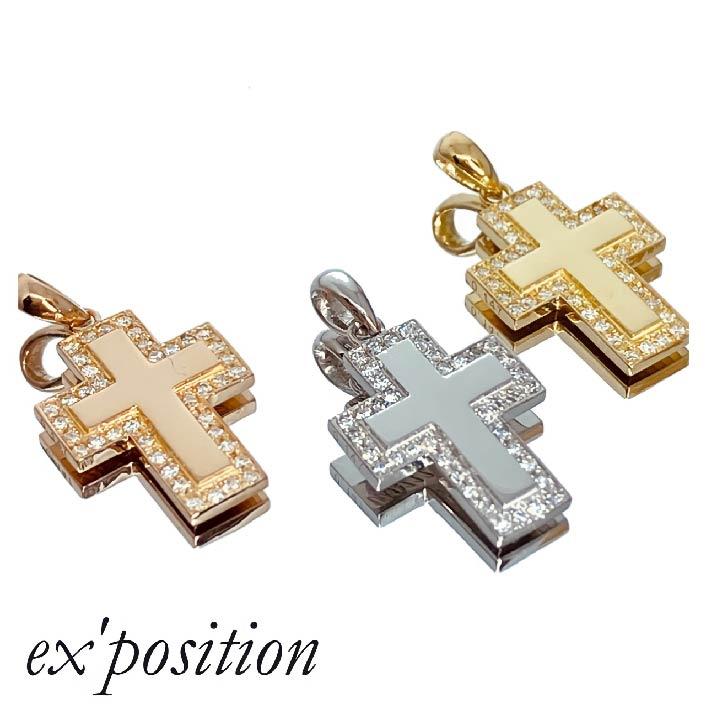 K18ダイヤミラークロストトップ【ex'position(エクスポジション)】EX-P024