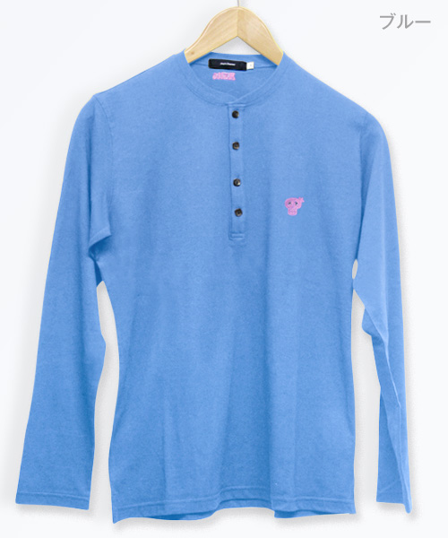 ヘンリーネック ロングスリーブTシャツ【Jimy's Charmer(ジミーズチャーマー)】JMS-002
