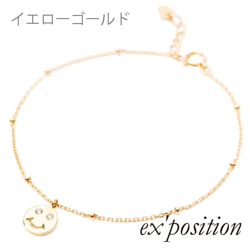 K10ダイヤスマイルブレスレット [HERSコラボアイテム]【ex'position(エクスポジション)】EX-B009