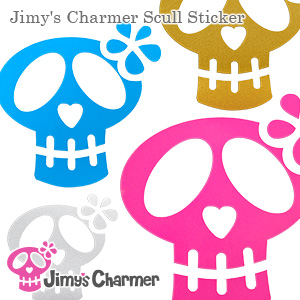 Jimy's Charmer スカルステッカー[大・中・小セット]【Jimy's Charmer(ジミーズチャーマー)】JCC-1001