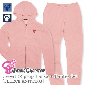 スウェット(ジップアップパーカー+パンツ)セット[裏毛]【Jimy's Charmer(ジミーズチャーマー)】AJC-01012