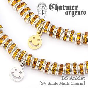 [Web Shop限定]BSアンクレット[SVスマイルマークチャーム]【Charmer argento(チャーマー アルジェント)】CA-B004
