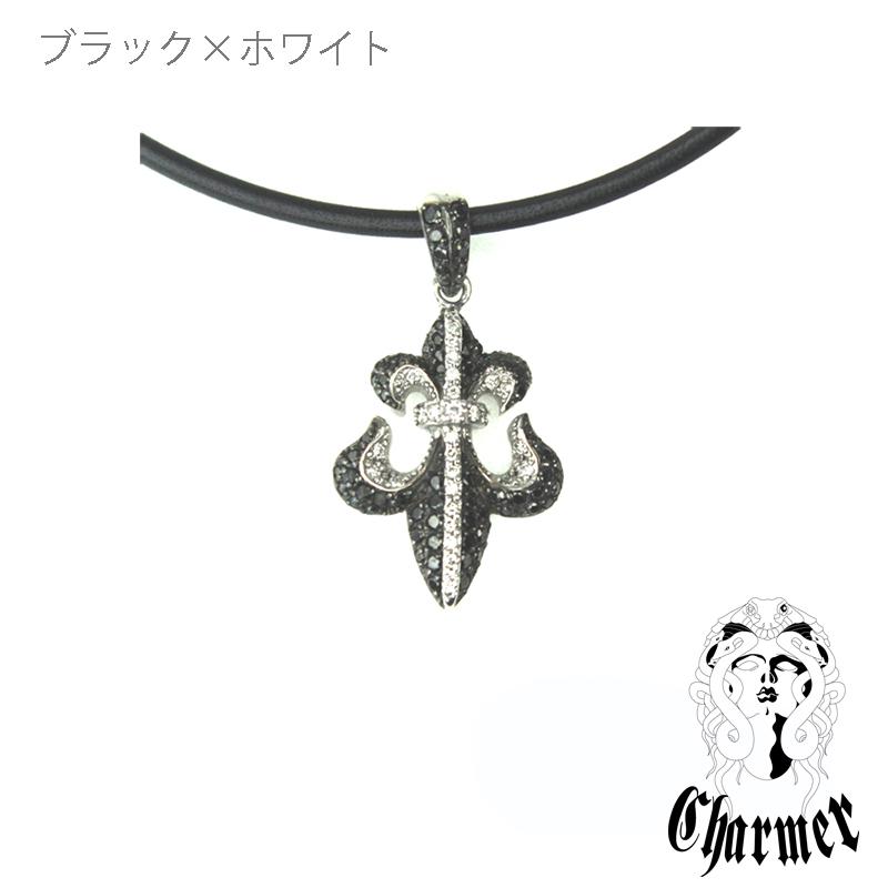 K18ブラックダイヤ フレアペンダント[S]【Charmer(チャーマー)】P1093
