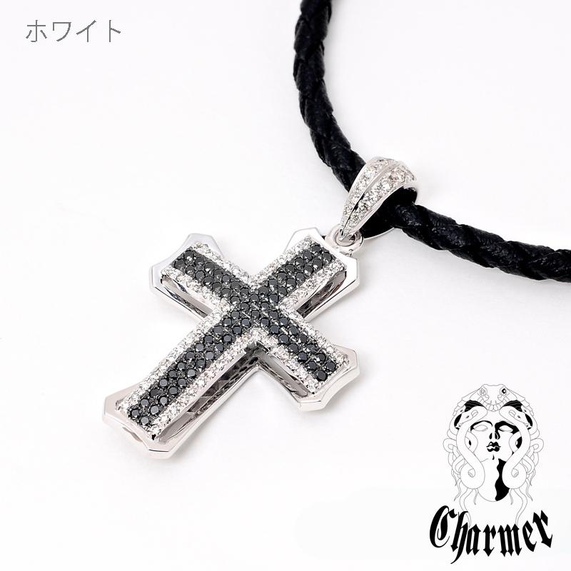 K18ダイヤチャーマークロスペンダント[L]【Charmer(チャーマー)】P1011