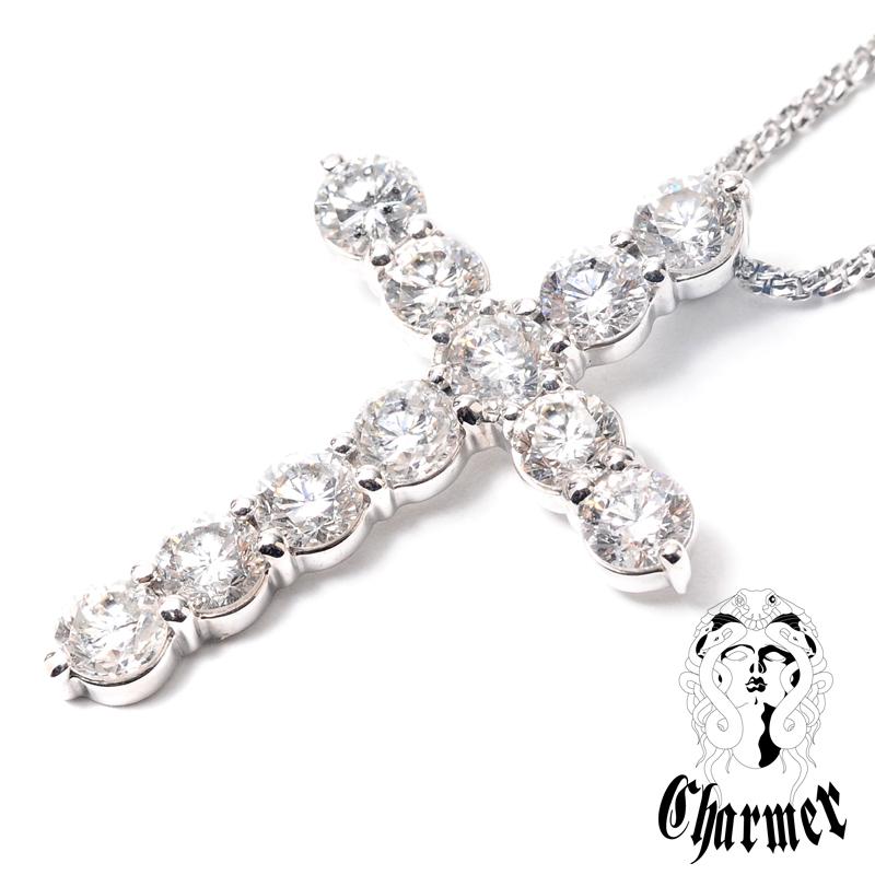 K18ダイヤ クロスペンダント[L]【Charmer(チャーマー)】P1050