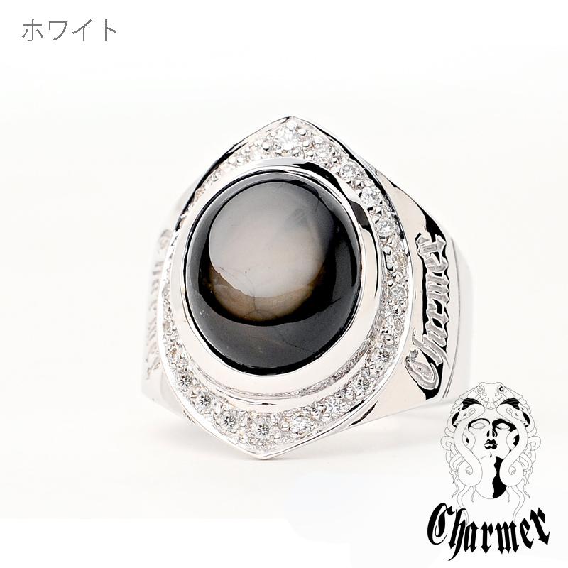 K18ブラックスターサファイア リング[12号〜18号]【Charmer(チャーマー)】R1004