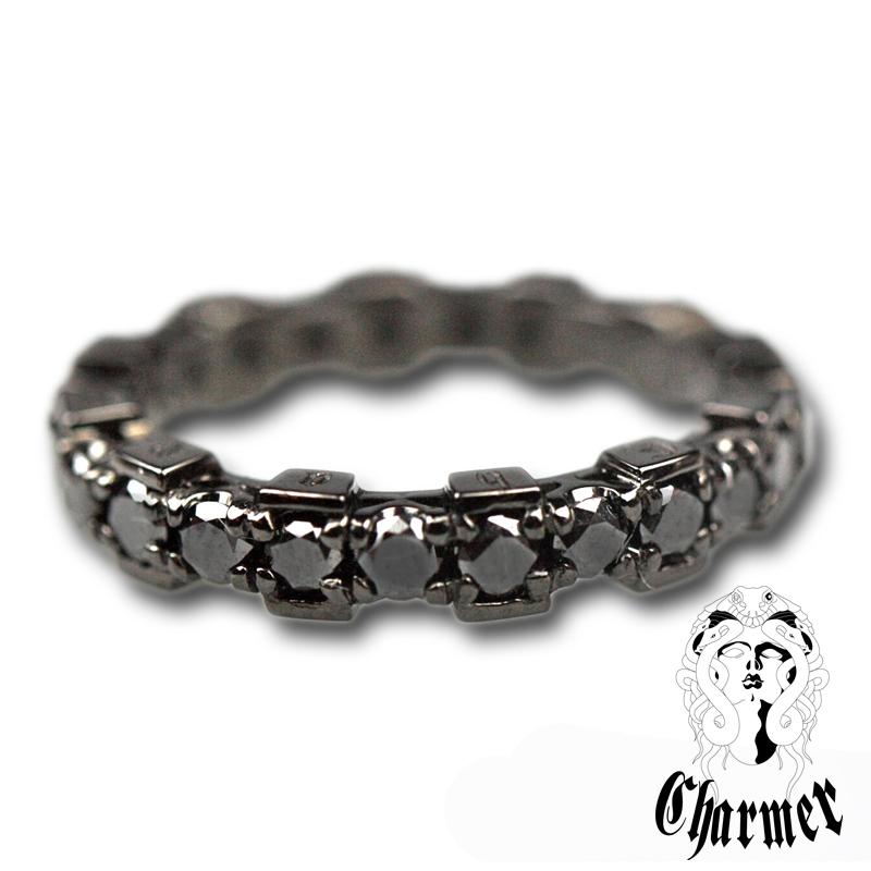 K18ブラックダイヤ チャーマー エタニティーリング [19号〜20号]【Charmer(チャーマー)】R1006
