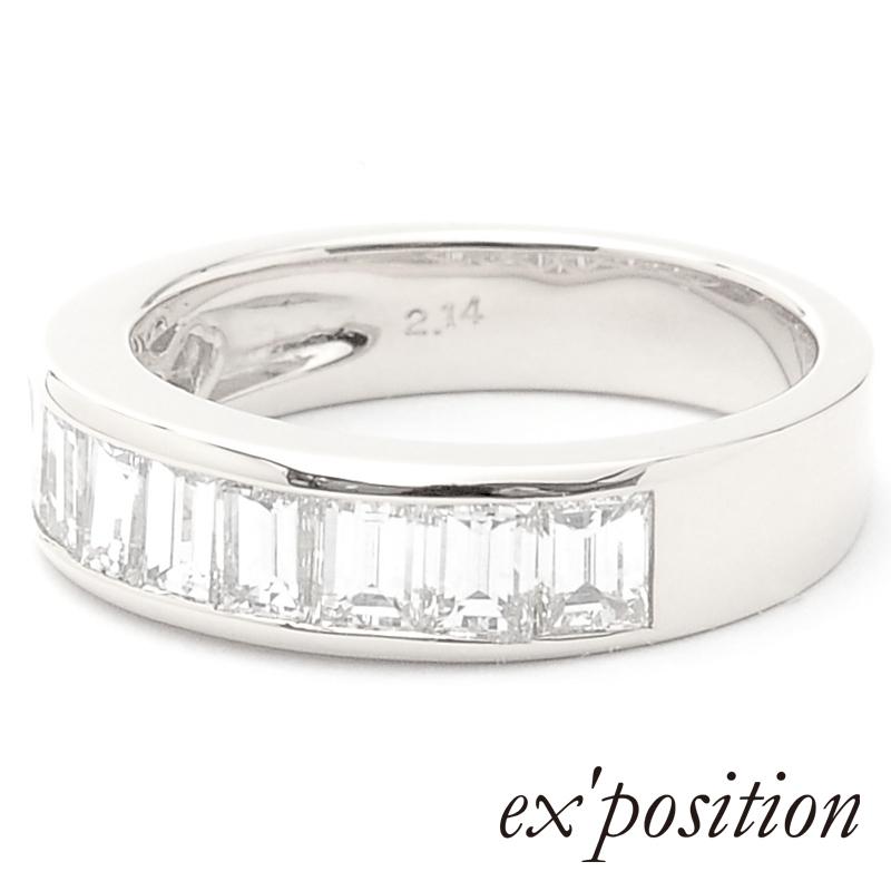 K18バケットダイヤリング [L] [13号〜18号]【ex'position(エクスポジション)】RG0268L
