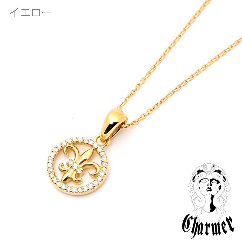K18ダイヤユリペンダント[S]【Charmer(チャーマー)】P1021
