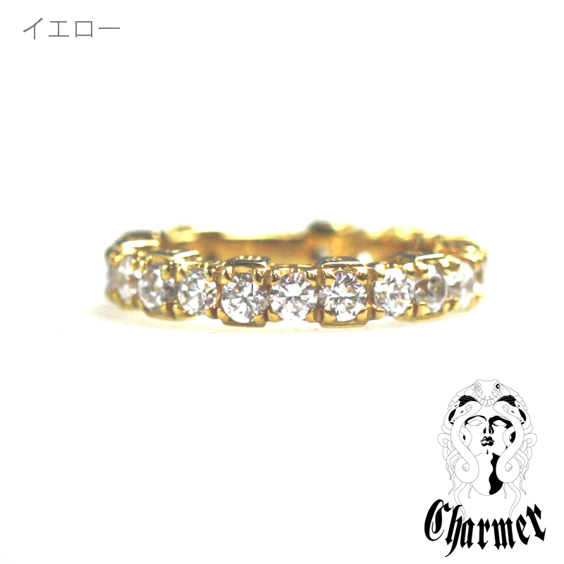 K18ダイヤチャーマー エタニティーリング [8号〜13号]【Charmer(チャーマー)】RG0196