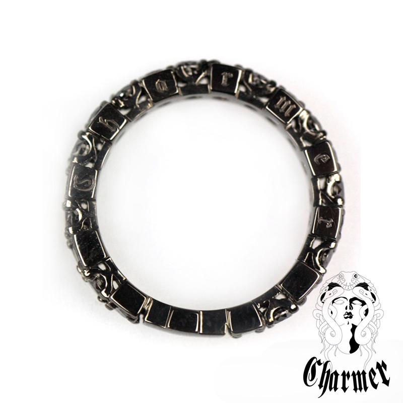 K18ブラックダイヤ チャーマー エタニティーリング [14号〜18号]【Charmer(チャーマー)】RG0199