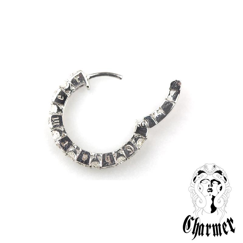 K18WGダイヤ フープピアス [2P/両耳用]【Charmer(チャーマー)】PI1014