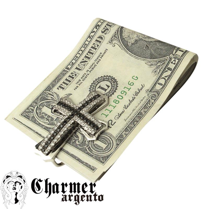 SVクロスマネークリップ【Charmer argento(チャーマー アルジェント)】O0027