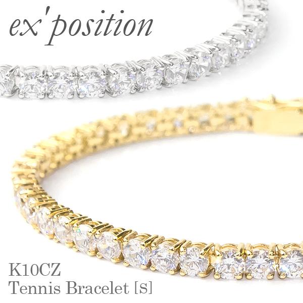 K10CZ テニスブレスレット[S]【ex'position(エクスポジション)】B1045S/EX-B003-S