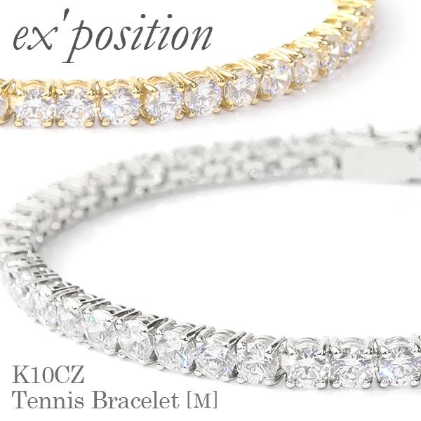 K10CZ テニスブレスレット[M]【ex'position(エクスポジション)】B1045M/EX-B003-M