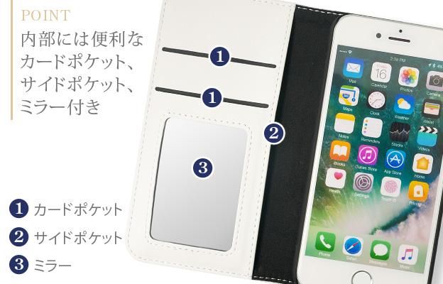[iPhone7/8/Xタイプ]ALOHA 手帳型iPhoneケース【Jimy's Charmer(ジミーズチャーマー)】AJA-01023