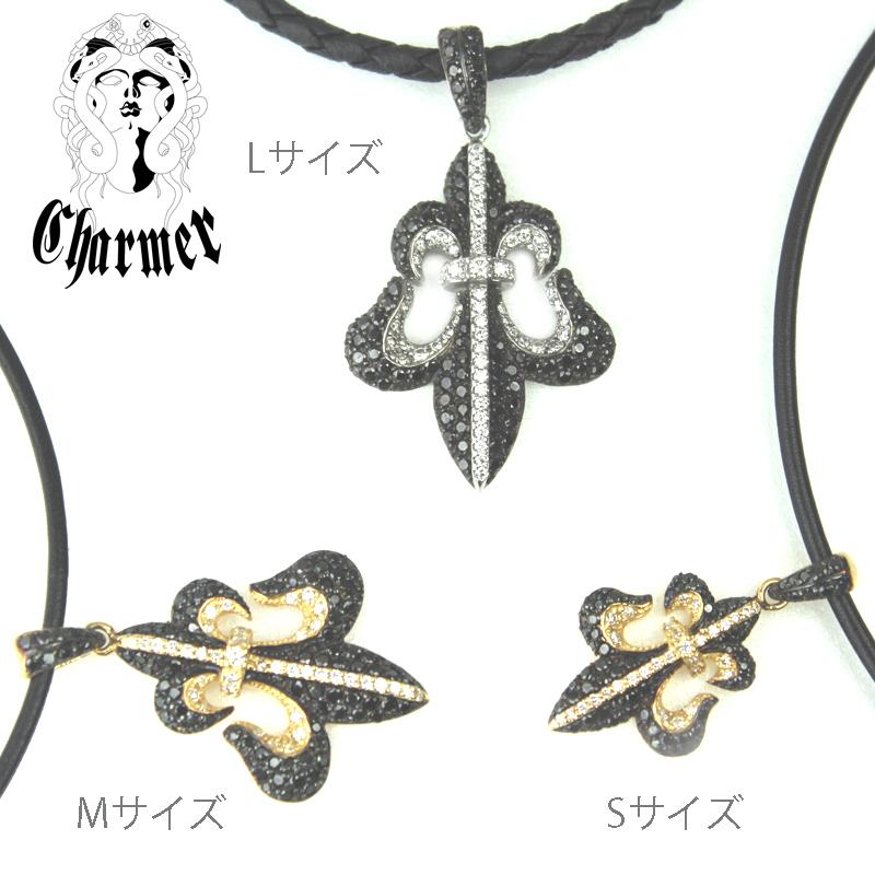 K18ブラックダイヤ フレアペンダント[M]【Charmer(チャーマー)】P1095