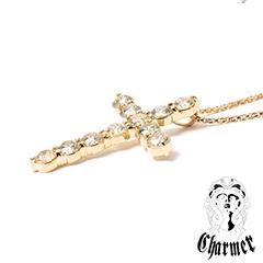 K18ダイヤ クロスペンダント[S]【Charmer(チャーマー)】P1048/EX-P007-S