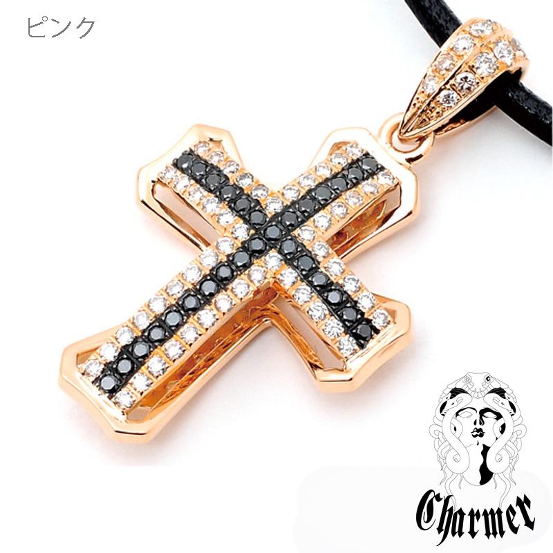 K18ダイヤチャーマークロスペンダント[M]【Charmer(チャーマー)】P1010