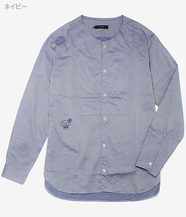 ノーカラーシャツ【Jimy's Charmer(ジミーズチャーマー)】AJS-03005