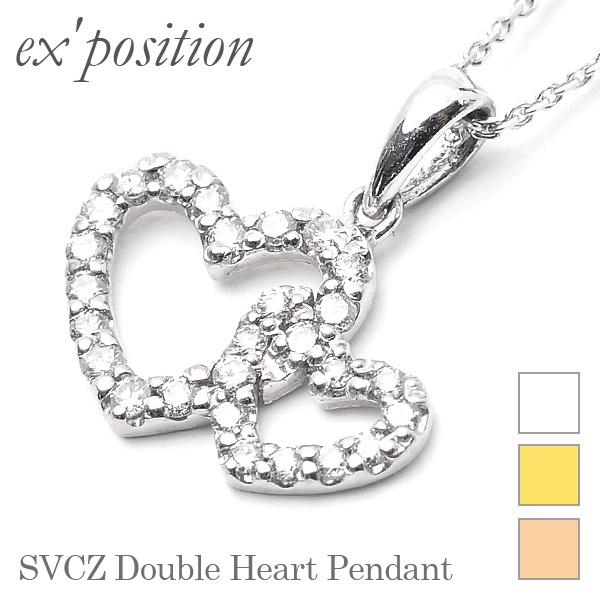 SVCZダブルハートペンダント【ex'position(エクスポジション)】EX-1337