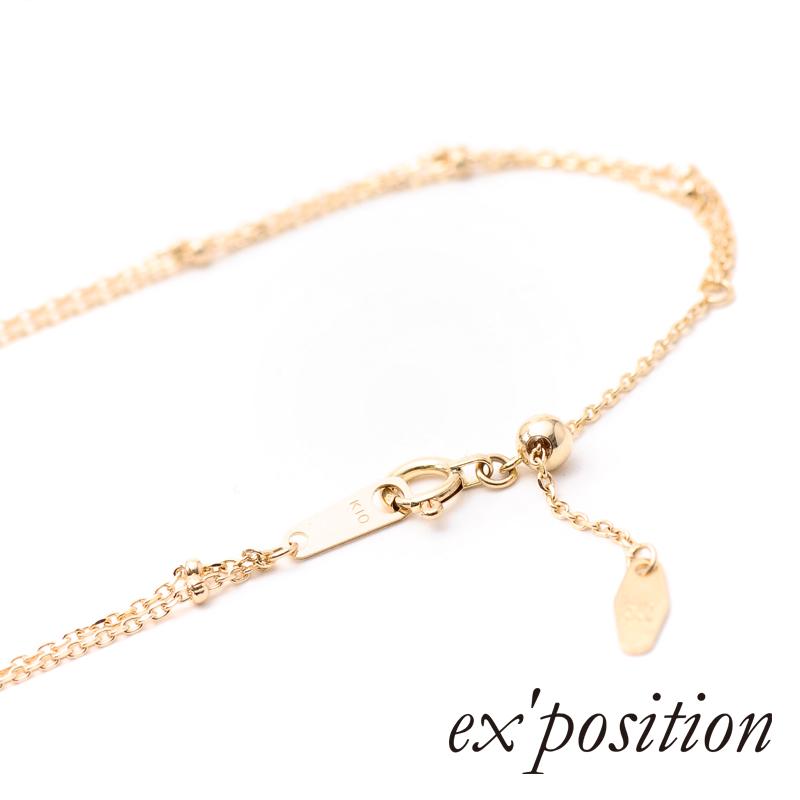 K10ダイヤブレスレット/ アンクレット[L]【ex'position(エクスポジション)】UL0146L/EX-B010-L