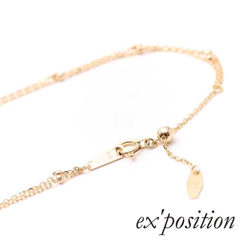 K10ダイヤブレスレット/ アンクレット[M]【ex'position(エクスポジション)】UL0146M/EX-B010-M
