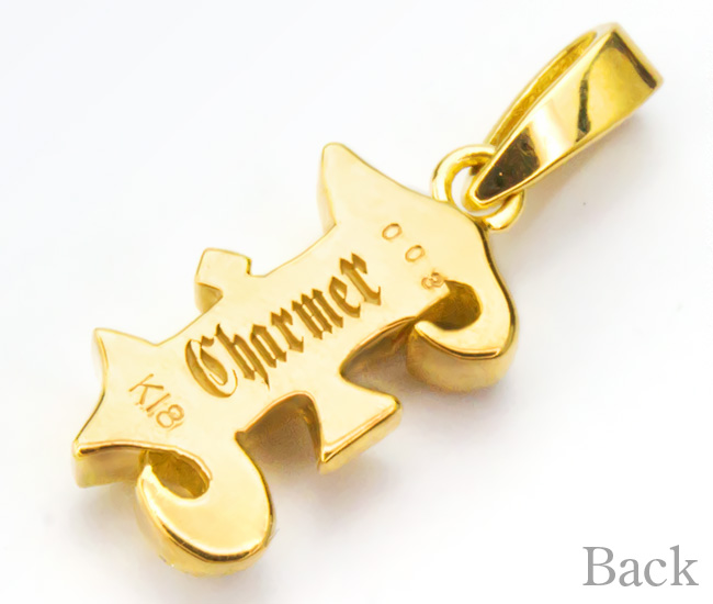 K18ダイヤローマ数字ペンダントトップ[I]【Charmer(チャーマー)】EX-8001