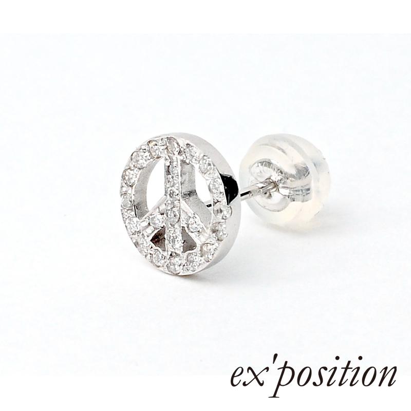 K10ダイヤピースピアス [1P/片耳用]【ex'position(エクスポジション)】PI1017