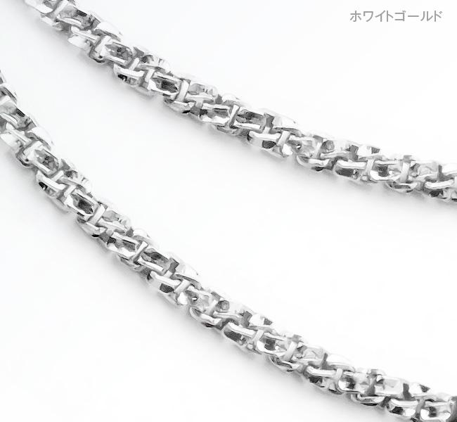 K18ベネVカットネックレスチェーン[M/50cm]【ex'position(エクスポジション)】EX-1145