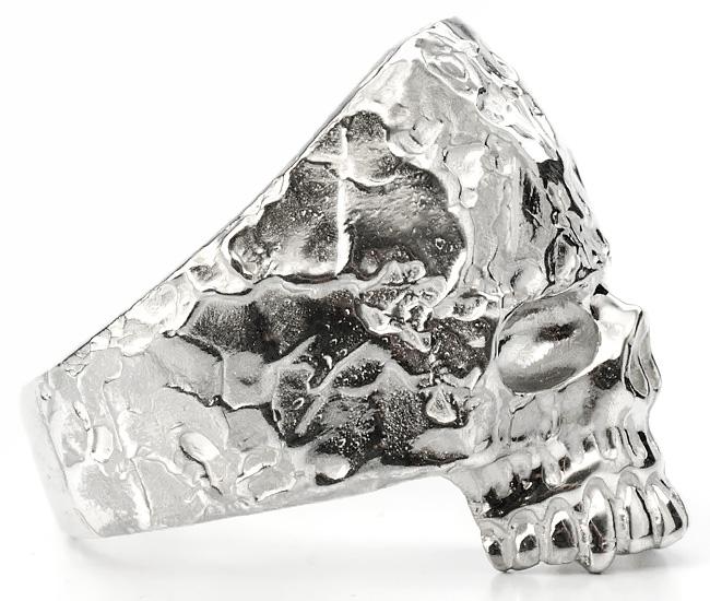 SV Rockスカルリング[L/16号〜24号]【Charmer argento(チャーマー アルジェント)】EX-8010-L