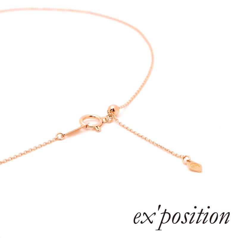 K18ダイヤ ダブルハートペンダント【ex'position(エクスポジション)】P1056