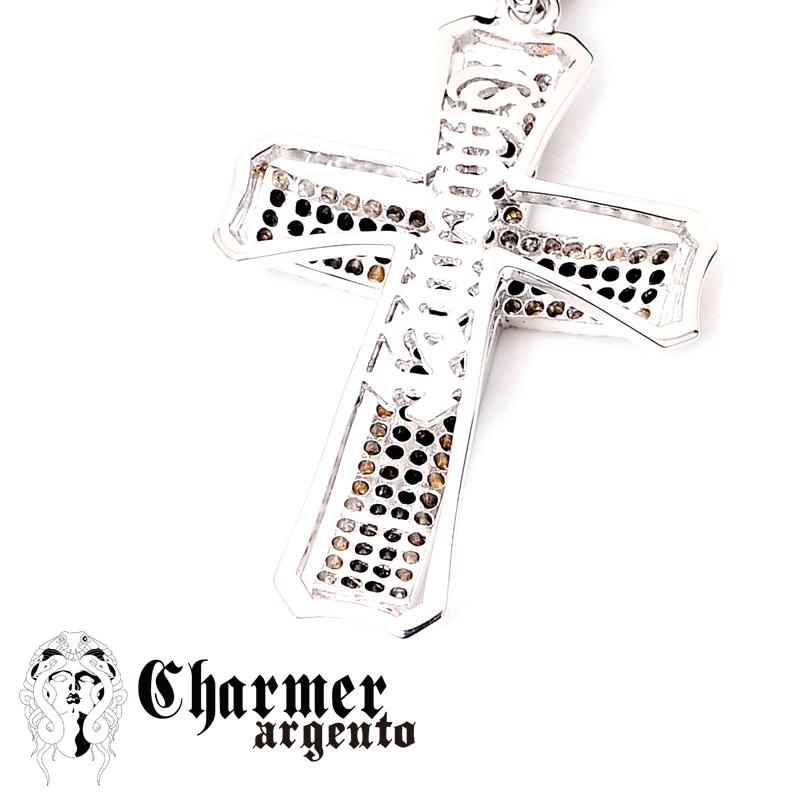 [Web Shop限定] SVセンターCZチャーマーペンダント[L]【Charmer argento(チャーマー アルジェント)】P1082