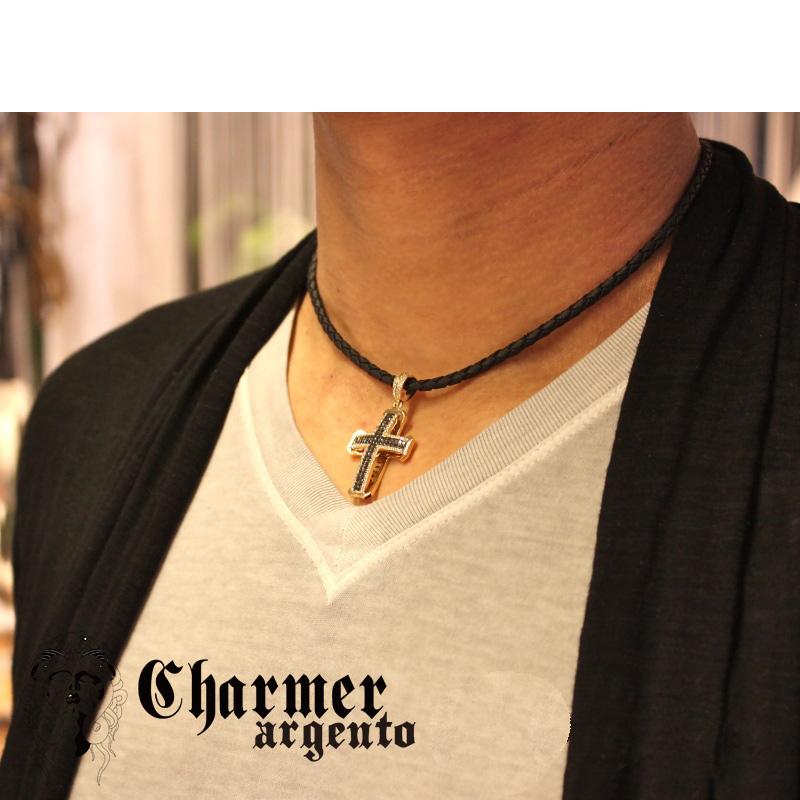 [Web Shop限定] SVCZチャーマークロスペンダント[L]【Charmer argento(チャーマー アルジェント)】P1015