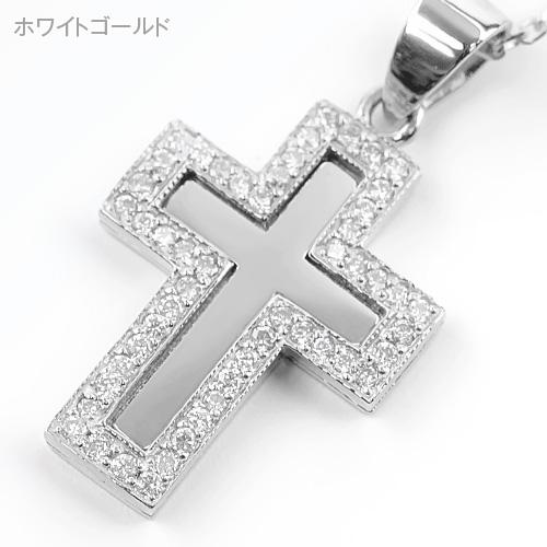 K10ダイヤミラークロスペンダント[45cm]【ex'position(エクスポジション)】EX-P023-45