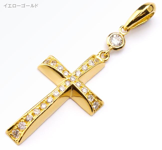 K18ダイヤクロスペンダントトップ【Charmer(チャーマー)】EX-8006