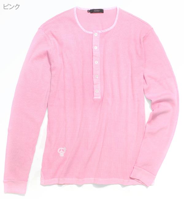 テレコヴィンテージヘンリーTシャツ[長袖]【Jimy's Charmer(ジミーズチャーマー)】AJC-01057