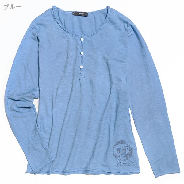 スラブヘンリーTシャツ[長袖]【Jimy's Charmer(ジミーズチャーマー)】AJC-01069