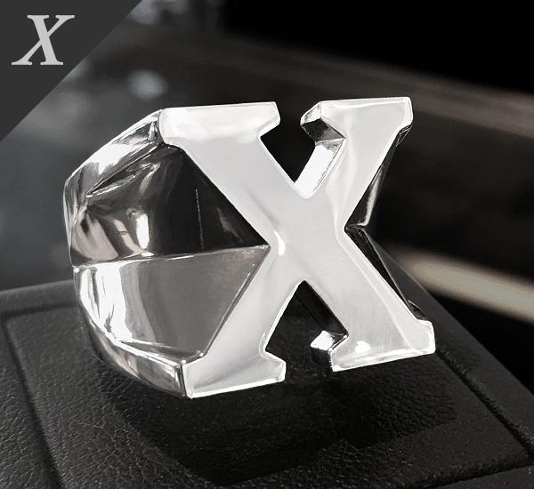 SV イニシャルリング[11号〜26号]【Charmer argento(チャーマー アルジェント)】EX-8012